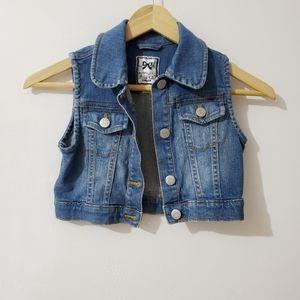 GYMBOREE Girls Denim Vest Blue